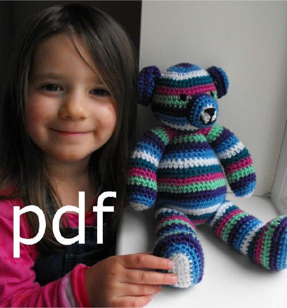 Crochet Teddy Bear Pattern pdf