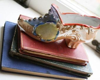 Vintage Porcelain Miniature Shoe Art Deco 1930s 30s Art Deco Accessories Art Deco Home Decor