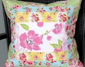 "16"" Patchwork Slipcover- Grandma's Garden"
