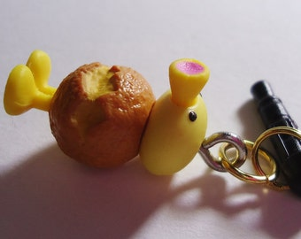 Kawaii Chicken Earphone plug. Handmade