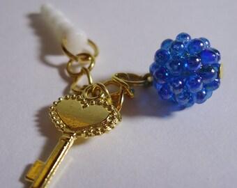 Kawaii Key chain Earphone plug. Handmade