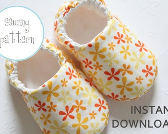 Baby Shoe Pattern - Slipper - Sizes 1 to 5