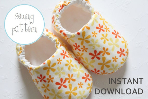 Baby Shoe Pattern - Slipper - Sizes 1 to 5