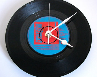 "BUZZCOCKS Vinyl Record CLOCK. ""Just Lust"" A recycled 7"" record, gift for fans, husband, wife, girlfriend, boyfriend"