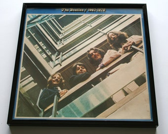 FRAMED Beatles Album Cover. Classic Blue LP Vintage Record Sleeve in a Brand New Frame. Great Gift for Fathers Day, dad, brother, fans