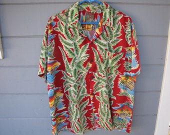 Vintage 100% Rayon Hawaiain Shirt