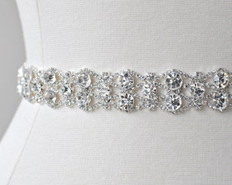 Bridal crystal belt , rhinestone sash, bridal sash, bridal belt,