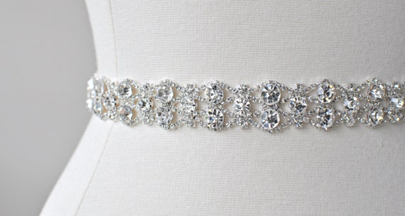 NEW Ready To Ship - Bridal crystal belt , rhinestone sash, bridal sash, bridal belt, Ready To Ship