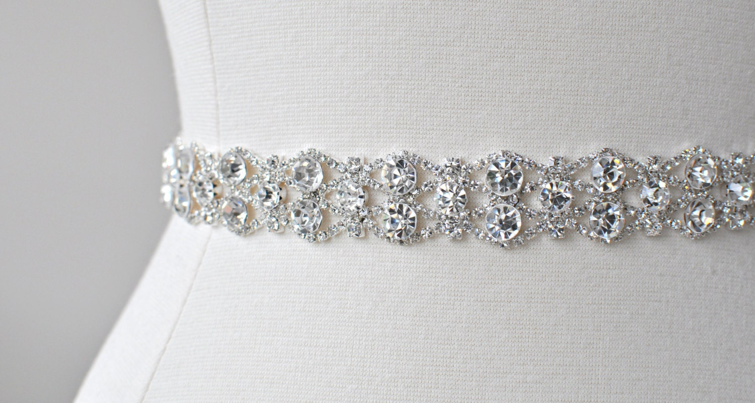Bridal crystal belt rhinestone sash bridal sash bridal for Wedding dress belt sash