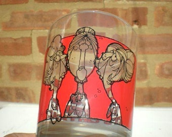 Vintage Funny (Mature) Drinking Glass. 1970s Old Ladies Quote Glass.