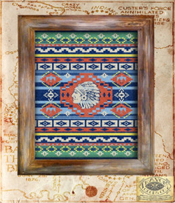 Native American Home Decor: Items Similar To SouthWest-Indian Blanket-Native American