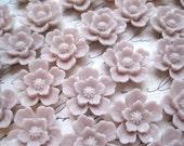Resin Flowers 6pcs Rose Smoke Resin Sakura Cabochon Flower 20mm