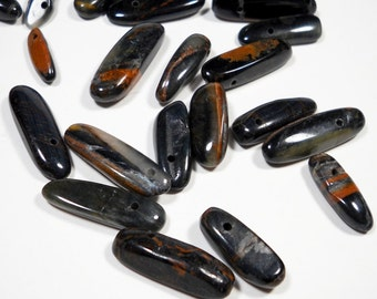 Iron Tigers Eye Tooth Nugget Beads Mix Sizes of 10mm - 24mm