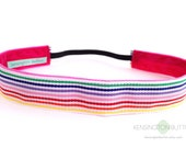 "1"" Rainbow Stripe Non-Slip Headband"