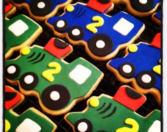 Train Cookies - Happy 1st Birthday - Train Cookie Favors