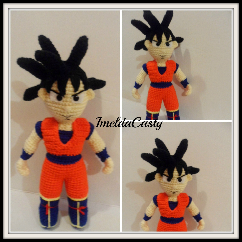 Goku Dragon Ball Z muneco Amigurumi PDF