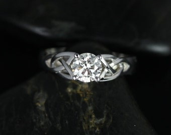 Rosados Box McCara 3/4ct 14kt White Gold Diamond Celtic Knot Engagement Ring