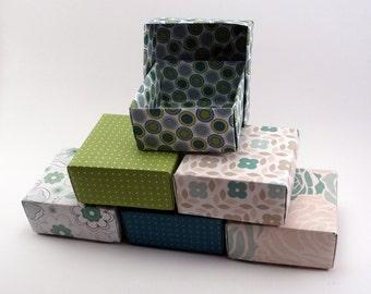 Set of 100 - Wedding Favor Box, Party Favor Box, Green Box, Green Wedding, Wedding Gift Box, Origami  Box, Favor Box