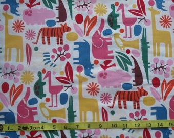 Custom 2D Zoo Animals 100% Woven Cotton Daycare Cot Sheet - Made to Order