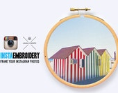 """Yours Instagram Photos on Canvas, Custom Canvas, Print Your Pictures, Canvas Hoop, Embroidery Art, Weeding Gift - 3""""/4""""/ 7"""" inches-"""