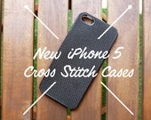 IPhone 5 Cross Stitch Case, Cross Stitch iPhone Case, iPhone Case, Cross Stitch  -DIY-
