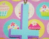 Pastel Upside-Down Cross - Perler Bead Necklace
