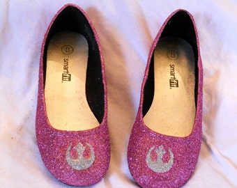 CHOOSE ANY COLORS- Rebel Star Wars Glitter Shoes