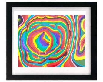 11 x 8.5 Limited Edition Rainbow Art Colorful Giclee Print