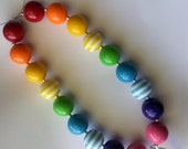 Chunky Necklace- Kids Necklace- Rainbow Necklace-
