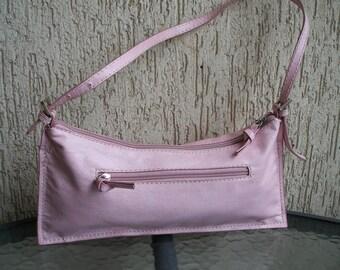 Pink Leather Purse Vintage Small Handbag, ON SALE