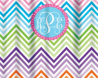 Personalized Shower Curtain Design Your Own Printed Shower Curtain, NOT  Embroidered, Chevron