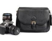 Leather-Canvas DSLR/SLR Camera Bag 117