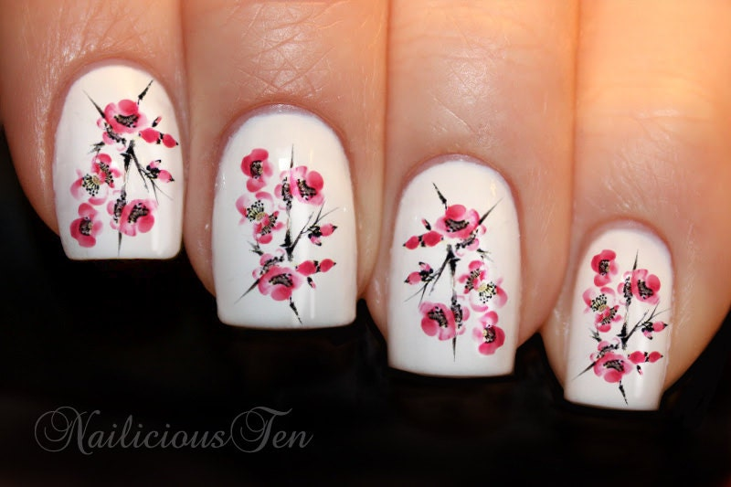 Easy cherry blossom nail art for short nails just a very quick view images cherry blossom nail art prinsesfo Gallery