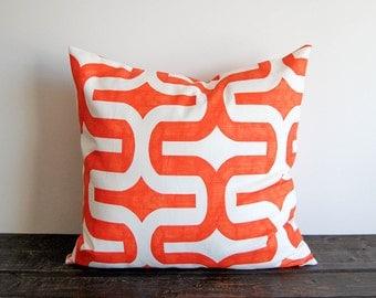 Orange pillow cover One cushion cover orange pillows orange throw pillow Embrace