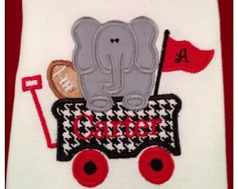 Custom University of Alabama Team spirit wagon personalized free