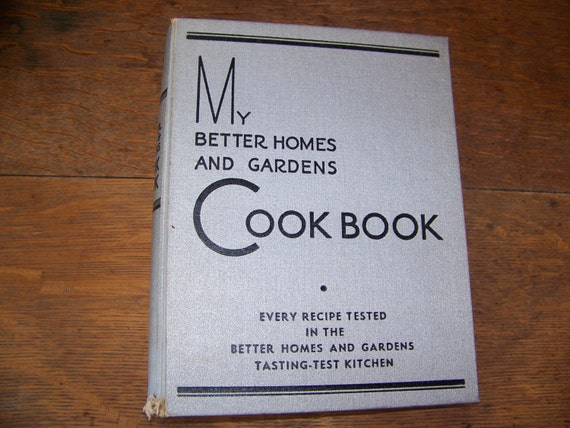 Vintage 1930 my better homes and gardens cookbook for Better homes and gardens tv show contact