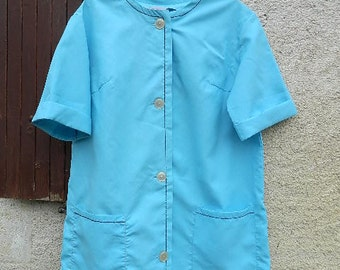 """1950 Vintage french """"blue blouse"""""""