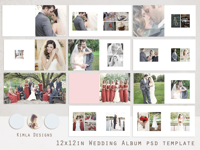 16 PSD Digital Album Templates