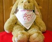 Bunny Bandana  Bunny Boo Boo Rabbit Scarf Bunny Scarf Free Shipping