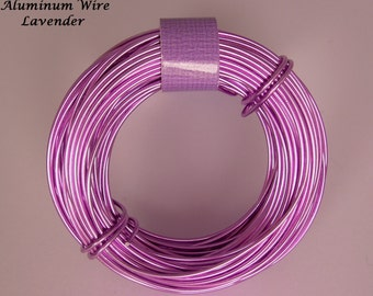 Anodized Aluminum 18ga wire 39 Ft Lavender Color Soft
