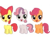 Mix and Match Magnets: Cutie Mark Crusaders (My Little Pony FiM Set 4)