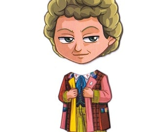 Mix and Match Magnets: Sixth Doctor (Doctor Who)