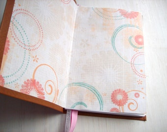 Blank Journal: Notebook, Brown, Pink, Christmas, Stocking Stuffer, Artistic, Sketchbook, Hand Sewn, Unlined Journal, Notebook, For Her, Gift