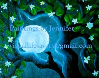 Moon and Tree - print