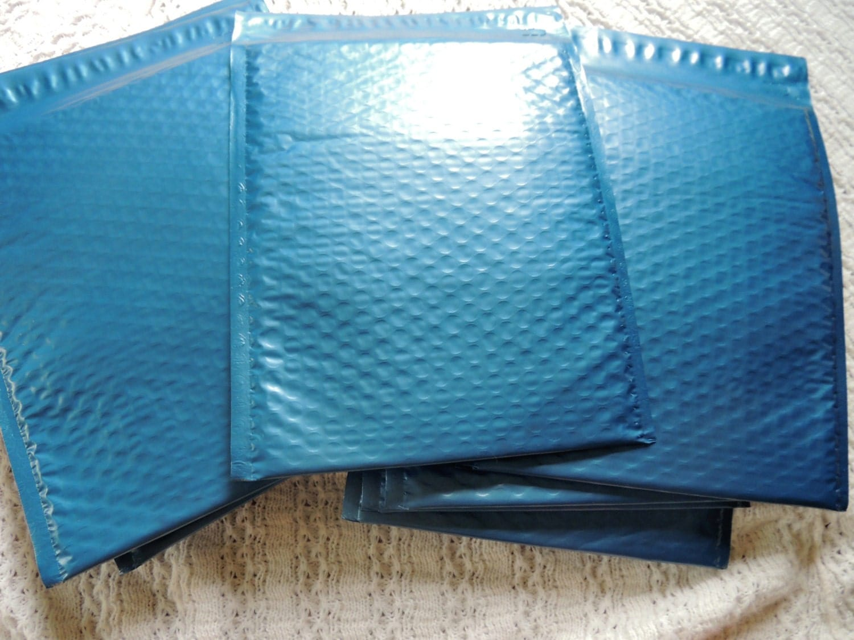 20 Metallic Blue Large 85x12 Bubble Mailers Size 2