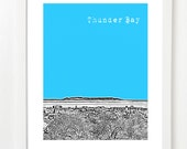 Thunder Bay Skyline Art Print - Thunder Bay Ontario City Poster -