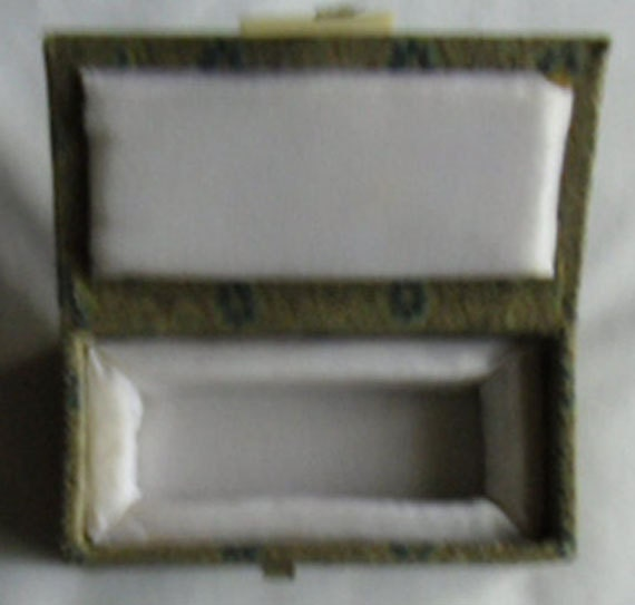 Vintage Oriental Fabric Boxes - Two Fabric Gift Boxes