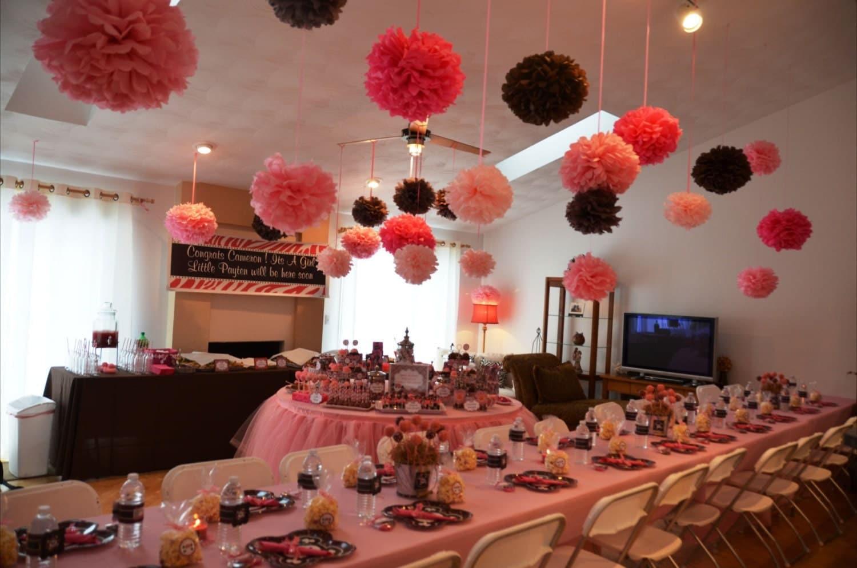 tissue paper pom poms set of 30 you choose your colors. Black Bedroom Furniture Sets. Home Design Ideas