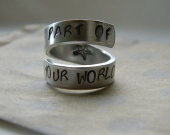 part of your world spiral aluminum ring