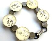 ART Theme Dewey Decimal Library Catalog Card Charm Bracelet in Brass or Silver